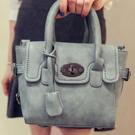 手提包 歐美流行磨砂百搭鎖頭包側背包【O3037】☆雙兒網☆ 2