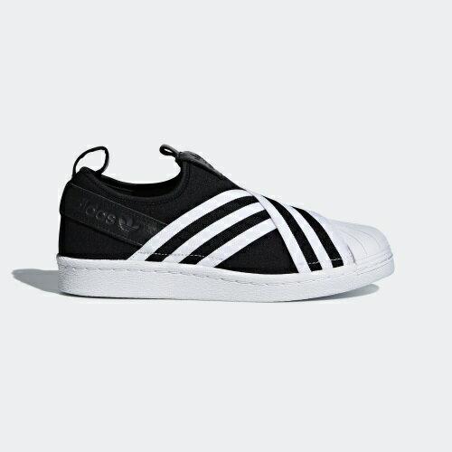 ADIDASSUPERSTARSLIPONW女鞋繃帶鞋休閒貝殼頭黑白【運動世界】AC8582