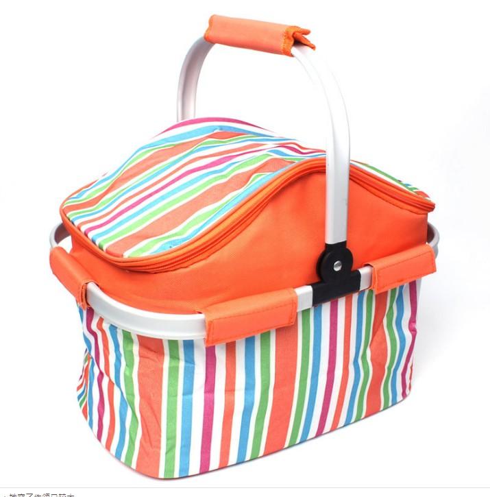 ~20L大容量~NG品戶外野餐包野餐籃燒烤包保溫籃折疊保溫包車載食品保鮮冰包