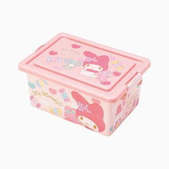 【真愛日本】16091000040方形收納箱S-MM糖果粉  三麗鷗家族 Melody 美樂蒂  收納盒 置物 日用品