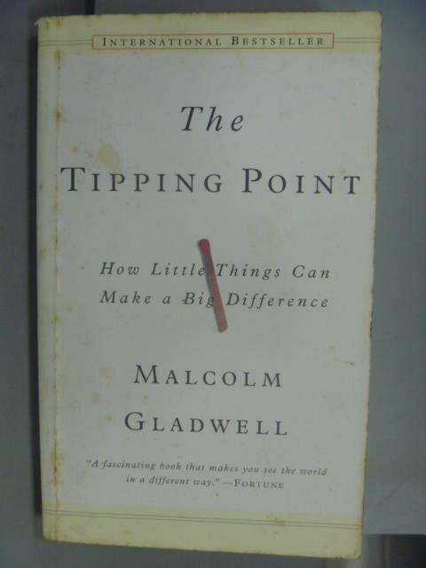 ~書寶 書T1/原文小說_NLK~The Tipping Point_Malcolm Gr