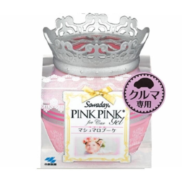 日本小林製藥 Sawaday PinkPink車用芳香劑 (棉花糖花束)