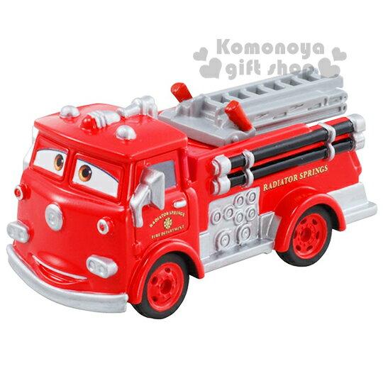 〔小禮堂〕迪士尼 CARS閃電麥坤 TOMICA合金小汽車《C-07.小紅.消防車》經典造型值得收藏