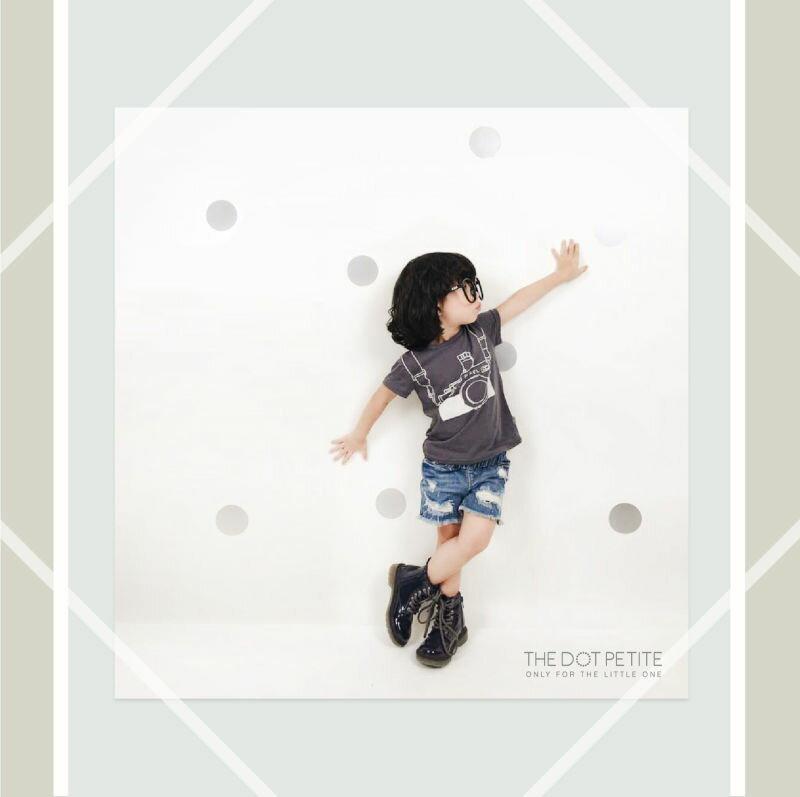 THE DOT PETITE中韓時尚童裝 男童上衣 相機造型全棉T/上衣/T恤