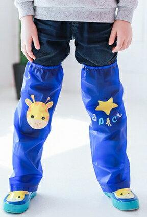 Kocotree◆ 雨天必備時尚可愛防水卡通腳套過膝雨鞋套兒童腿套-小鹿X深藍