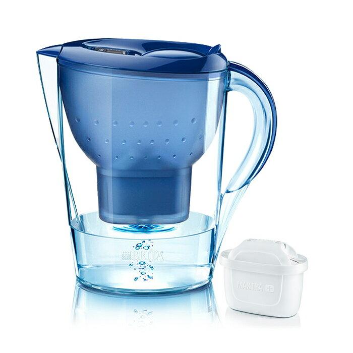 【BRITA】德國進口 Marella 馬利拉淨水器/淨水壺/濾水壺 3.5L(內含1支濾芯)(深藍)