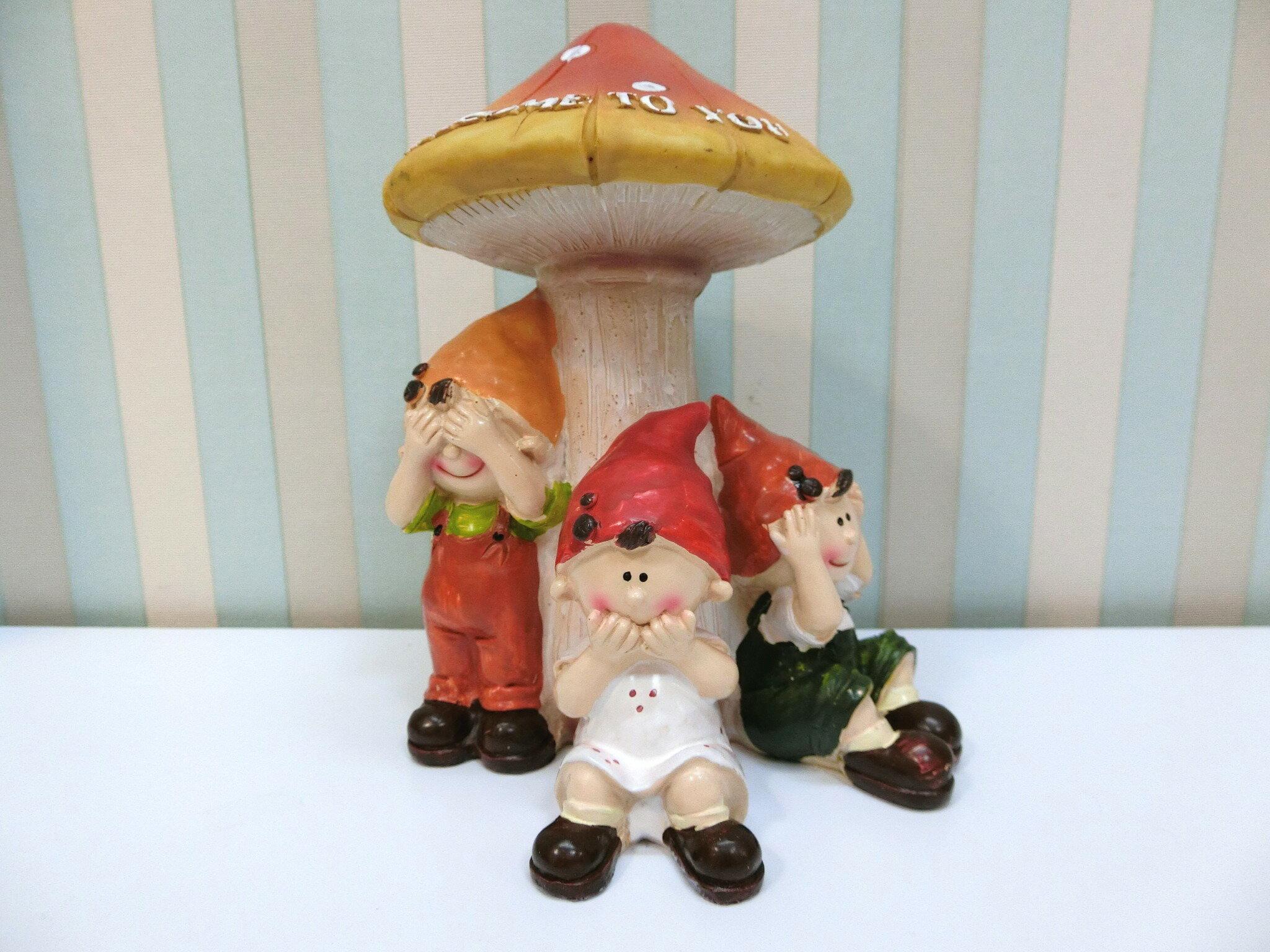✰特價✰波麗娃娃擺飾《PL29》鄉村風 蘑菇三不娃娃擺飾 園藝 居家布置 店面裝飾 送禮◤彩虹森林◥
