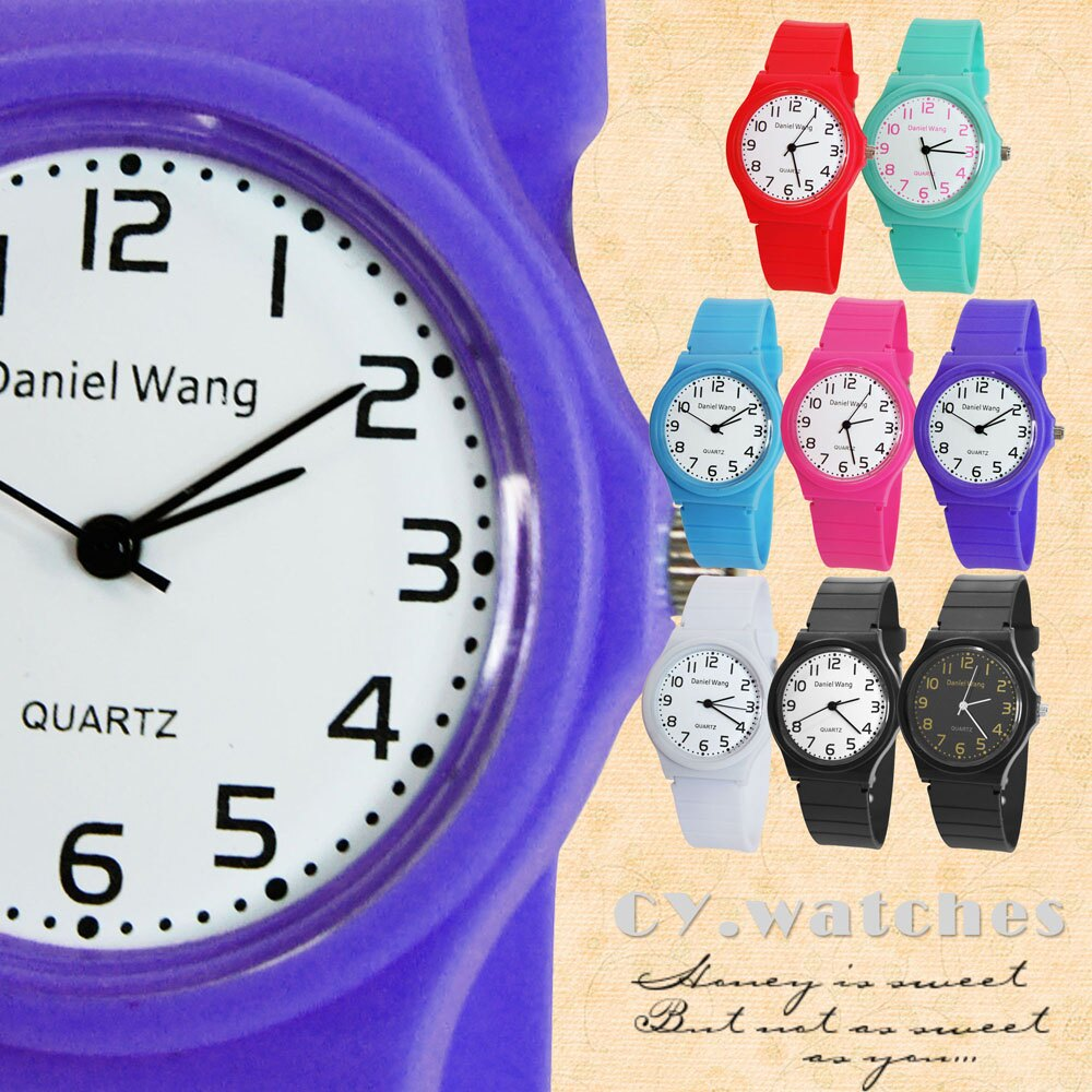 Daniel Wang 4118-日系 馬卡龍輕薄數字學生錶 6