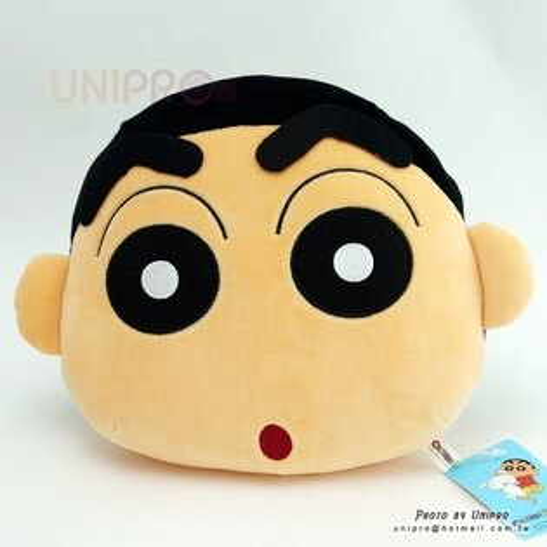 【UNIPRO】蠟筆小新24公分小新軟Q頭型抱枕抱枕午安枕禮物