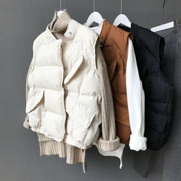 麵包棉服百搭短款外套鋪棉馬甲背心樂天時尚館。現貨。[全店免運]