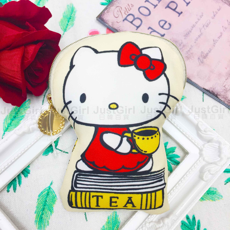造型收納包 三麗鷗 Hello KItty 凱蒂貓 KT貓 2款 拉鍊收納包 日本進口正版授權