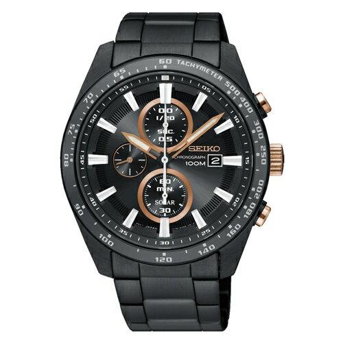 方采鐘錶:SSEIKO精工CRITERIA太陽計時運動腕錶SSC661P1V176-0AV0X