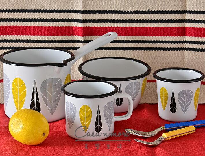 Muurla 黃葉 碗 琺瑯碗 濃湯碗   600cc 2
