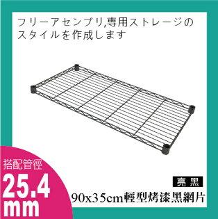 探索生活-鐵架專用-90x35cm輕型黑色烤漆網片