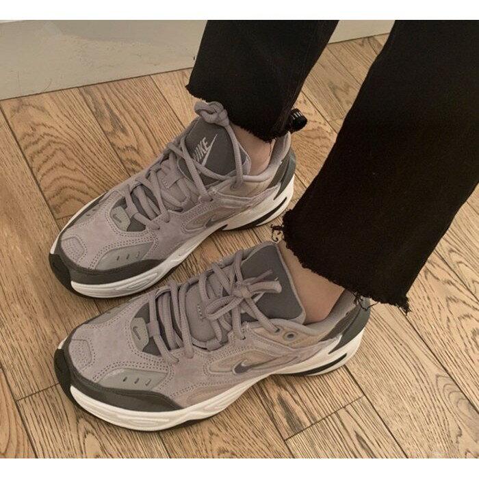 【日本海外代購】Nike Monarch M2K Tekno 復古 老爹鞋 麂皮 奶茶 灰黑 厚底 男女鞋 BV7075-001