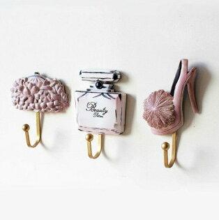 時尚更衣間衣帽壁掛可愛樹脂掛鉤(一套三入)