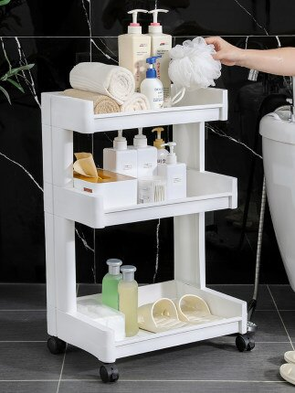 塑膠置物架 多功能衛生間置物架抖音同款浴室落地式收納櫃塑膠夾縫多層收納架『TZ788』