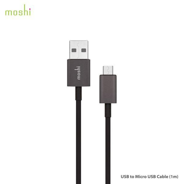 Moshi USB to Micro USB 傳輸線/充電線 (1M /3M)
