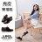 格子舖*【AA7261】MIT台灣製 個性帥氣亮皮 舒適柔軟乳膠墊 休閒綁帶紳士樂福鞋 黑色 0