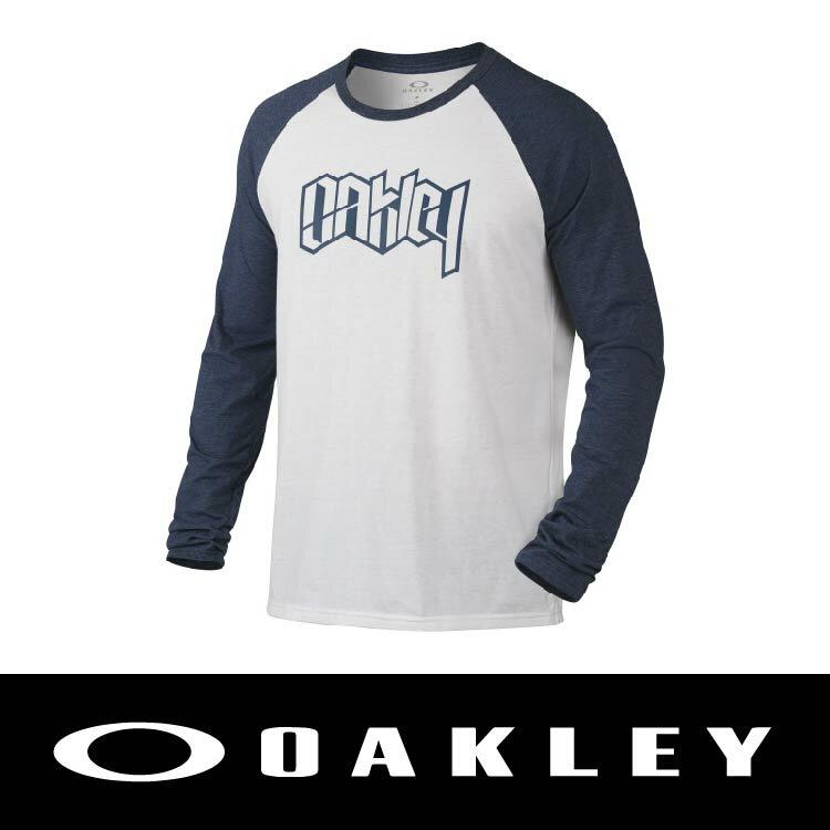 【新春滿額送後背包!只到2/28】OAKLEY RIPPED RAGLAN SHIRT 男長袖T恤 白色 OAK-455392-6AR 萬特戶外運動