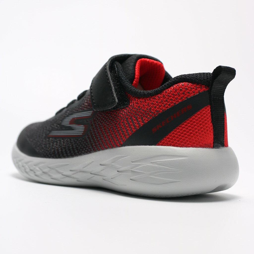 SKECHERS GO RUN 600 黑紅 灰 黏帶 休閒鞋 中童 (布魯克林) 97867LBKRD