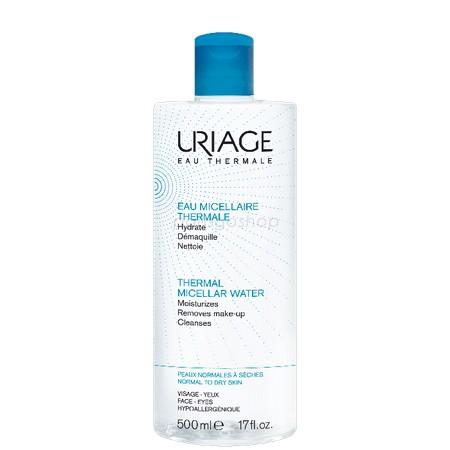Uriage 優麗雅 含氧舒活高效潔膚液 500 ML(藍-保濕)【巴黎好購】 - 限時優惠好康折扣