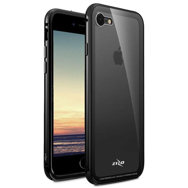 貝殼嚴選:【貝殼】ZizoBoltATOM系列iPhone8PlusiPhone7Plus手機殼防摔殼(贈非滿版玻璃貼)-黑色