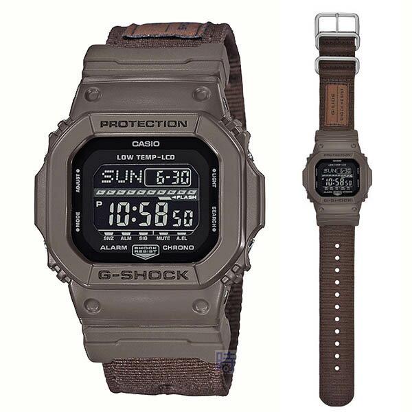 【時光鐘錶】G-SHOCK GLS-5600CL-5(GLS-5600CL-5DR) CASIO 帆布 防水 錶