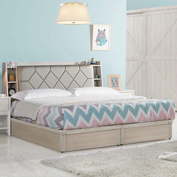 優世代居家生活館:雙人床組雙人床床台床頭箱房間組臥室《YoStyle》柔娜5尺床台組(含床頭箱)-雙人5尺