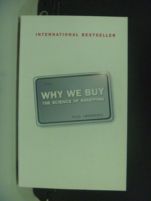 【書寶二手書T3/原文書_NIY】Why We Buy: The Science of Shopping