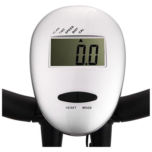 Folding Magnetic Upright Exercise Bike LCD Display Fitness Indoor Cycling Trainer Silver 3