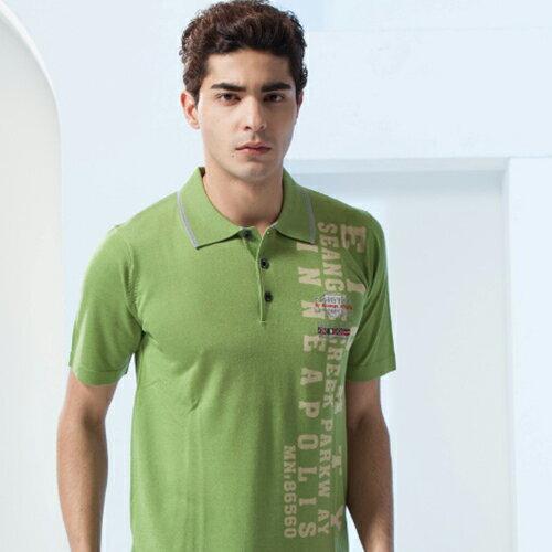 男裝新款夏季綠色線衫時尚扮演著多樣的角色與風情POLO衫款{綠色M.L.XL.2XL}【86337-60】*86精品女人國*
