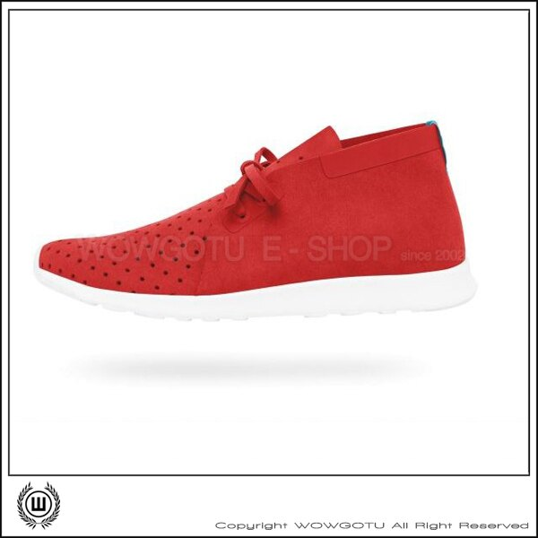 NATIVESHOES - APOLLO CHUKKA -TORCH RED/SHELL WHITE(6401)