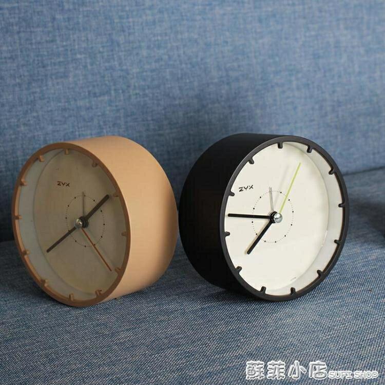 鬧鐘 鬧鐘靜音簡約床頭創意北歐風格學生用桌面電子時鐘小擺件台鐘臥室