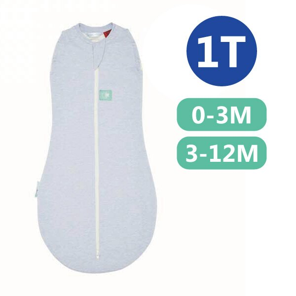 【全品牌任兩件贈三角圍兜】ergoPouch ergoCocoon 二合一竹纖有機舒眠包巾1T(春.秋款)(0~3M/3-12M) 懶人包巾-水藍