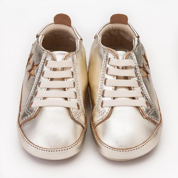 【澳洲OldSoles手工鞋】BambiniStars(學走)-金【飛炫寶寶】
