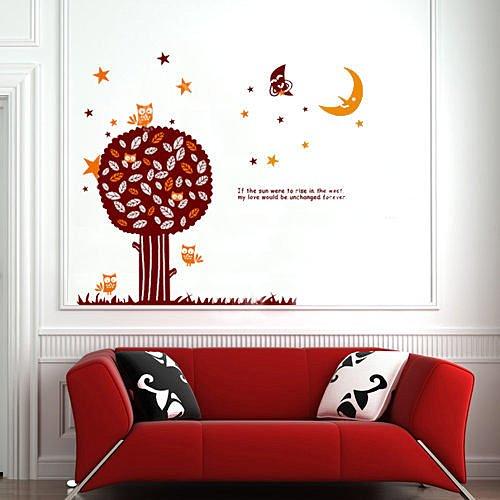 BO雜貨【YP1632】創意可移動壁貼 牆貼 背景貼 磁磚貼 兒童房佈置設計壁貼 月色童話