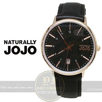 NATURALLY JOJO薄型簡約真皮腕錶/36mm/JO96898-88R原廠公司貨