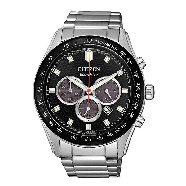 富茂鐘錶 CITIZEN Eco-Drive 亞洲限定三眼計時光動能腕錶 43mm /  CA4454-89E