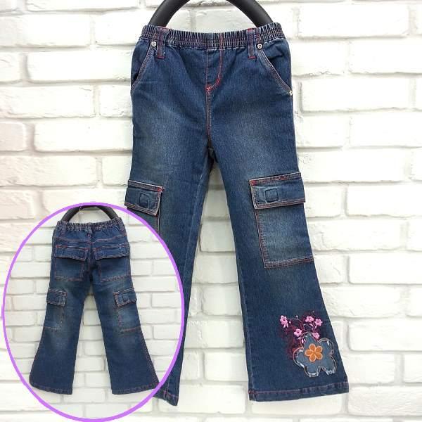 ~班比納 ~蝴蝶 喇叭褲~藍~W3512987~