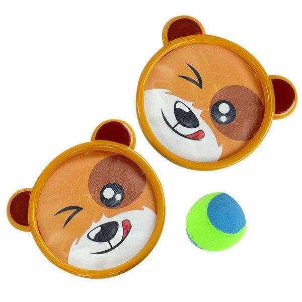 【888便利購】動物造型黏巴傳接球組(2盤1球)(安全軟球)