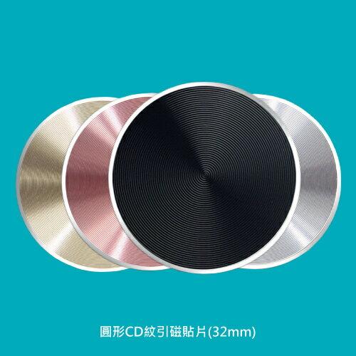 【A-HUNG】圓形CD紋引磁貼片 (32mm) 引磁片 手機貼片 出風口支架 車用支架 手機支架 磁吸支架貼片