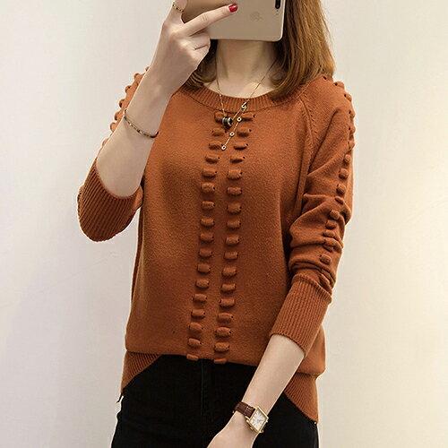 韓版針織衫寬鬆圓領套頭毛衣(5色F碼) 【OREAD】 4