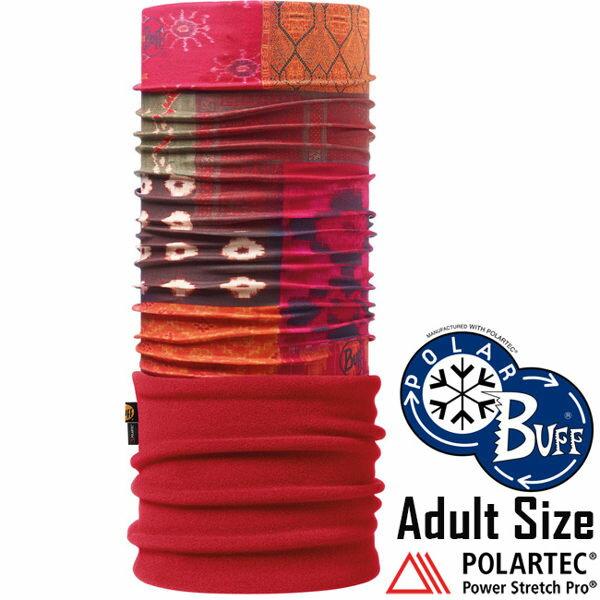 【【蘋果戶外】】BF108973西班牙BUFF魔術頭巾暖橙紅茶保暖頭巾Polartec保暖纖維脖圍