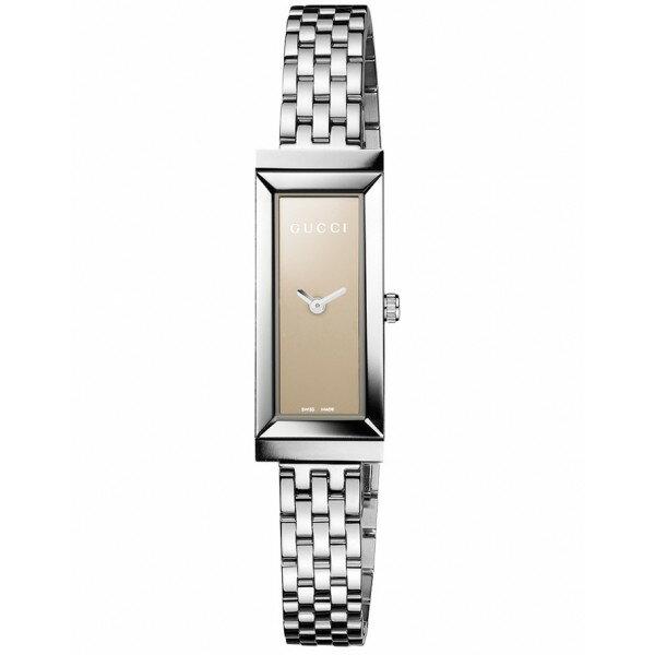 Gucci 古吉YA127504經典長形時尚腕錶/茶面34*14mm