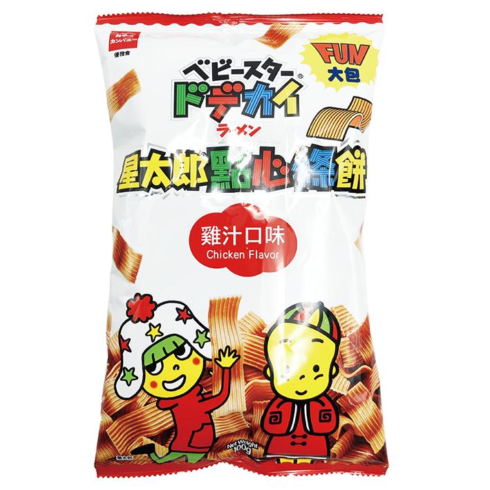 台灣 優雅食 星太郎 大包 雞汁條餅 100g 點心麵 寬條點心麵 零食 餅乾