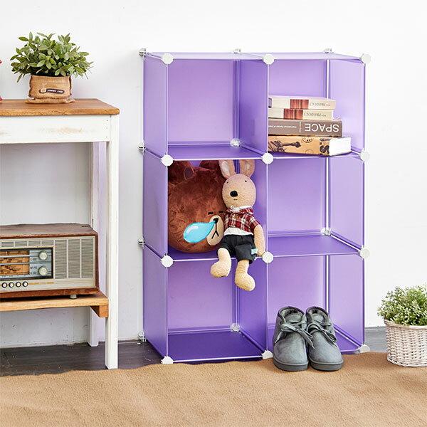 Loxin【BG0686】ikloo~6格無門DIY百變收納櫃 創意收納組合櫃 鞋櫃鞋架收納箱置物屏風櫃