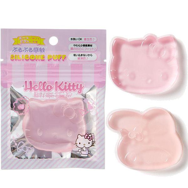 三麗鷗 透明矽膠粉撲 凱蒂貓 美樂蒂 水洗ok  該該貝比  ☆