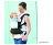 日本【Eightex】COALATTE腰帶型二用式背巾 -深藍色/米色 0