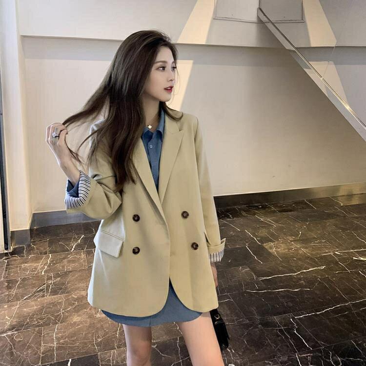 西裝外套秋季新款英倫風炸街高級感時尚氣質中長款網紅小西裝外套女 全館免運
